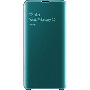 Husa Clear View pentru SAMSUNG Galaxy S10 Plus EF-ZG975CGEGWW, green
