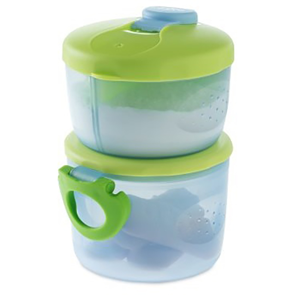 Sistem de dozare a laptelui praf CHICCO, 0 luni +, 2 piese, verde - transparent