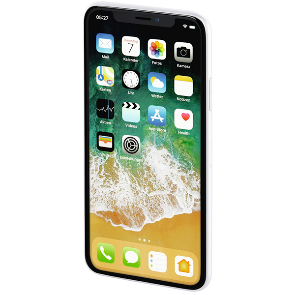 Carcasa pentru iPhone X, HAMA Ultra Slim 181393, Alb