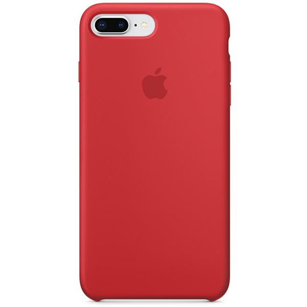 Carcasa pentru APPLE iPhone 8 Plus/7 Plus, MQH12ZM/A, silicon, Red