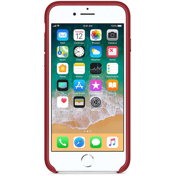 Carcasa din piele pentru iPhone 8 /7 , APPLE MQHA2ZM/A, Red