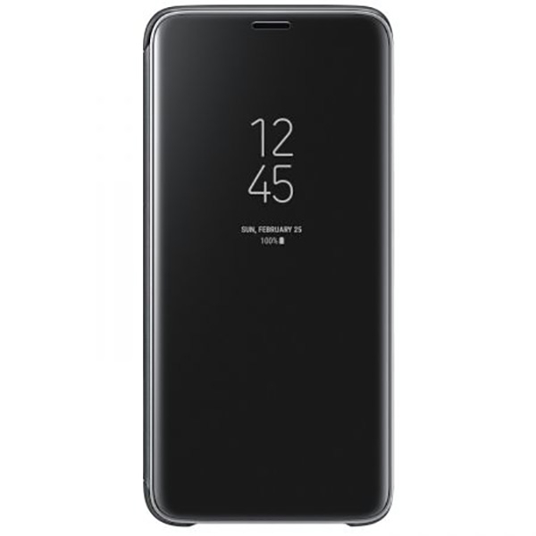 Husa Clear View Standing pentru SAMSUNG Galaxy S9, EF-ZG960CBEGWW, Black
