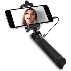 Selfie stick FRESH 'N REBEL 156845, cu fir, negru