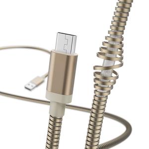 Cablu date HAMA Metal 183335, microUSB, 1.5m, auriu
