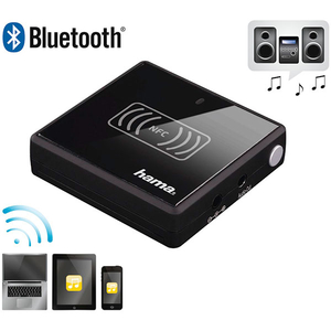 Adaptor audio Bluetooth/NFC HAMA 53187, Negru