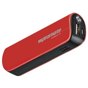 Baterie externa PROMATE aidBar-2, 2500mAh, 1xUSB, Red