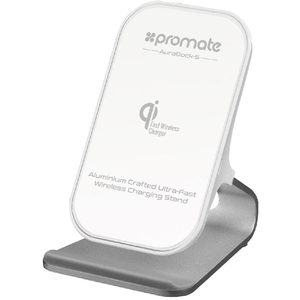 Incarcator wireless PROMATE AuraDock-5, universal, QI, argintiu