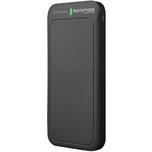 Baterie externa cu incarcare wireless PROMATE AuraVolt-10, 10000mAh, 1xType C, 2xUSB, negru