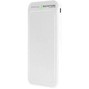 Baterie externa cu incarcare wireless PROMATE AuraVolt-10, 10000mAh, 1xType C, 2xUSB, alb