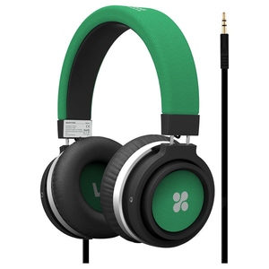 Casti PROMATE Boom, Cu Fir, On-Ear, verde