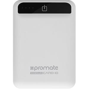 Baterie externa PROMATE Card-10, 10050mAh, 2xUSB, Alb