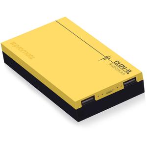 Baterie externa PROMATE Cloy-8, 8000mAh, 2xUSB, Yellow