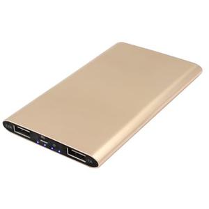 Baterie externa MYRIA MY9202GD, 4000mAh, 2xUSB, gold