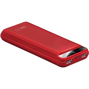 Baterie externa PROMATE Quantum-20, 20000mAh, 2xUSB, rosu