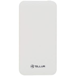 Baterie externa TELLUR TLL158161, 10000mAH, 2xUSB, alb