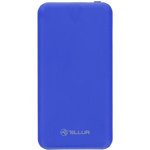 Baterie externa TELLUR TLL158171, 10000mAH, 2xUSB, albastru