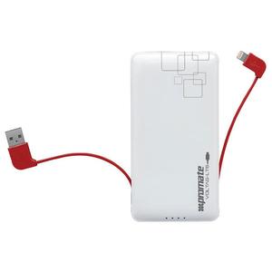 Baterie externa PROMATE volTag-LT6, 6000mAh, 1xLightning, 1xUSB, White