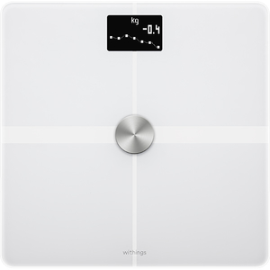 Cantar inteligent NOKIA Body+, Wi-Fi, 8 memorii, alb