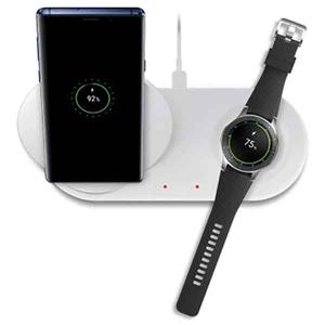 Incarcator wireless SAMSUNG Duo EP-N6100TWEGWW, universal, QI, Type C, alb