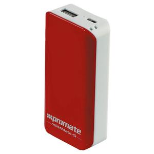 Baterie externa PROMATE reliefMate-5, 5200mAh, 1xUSB, Maroon White