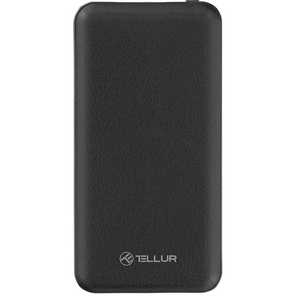 Baterie externa TELLUR TLL158151, 10000mAh, 2xUSB, Black