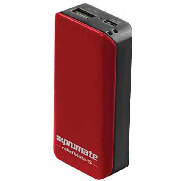 Baterie externa PROMATE reliefMate-5, 5200mAh, 1xUSB, Maroon Black