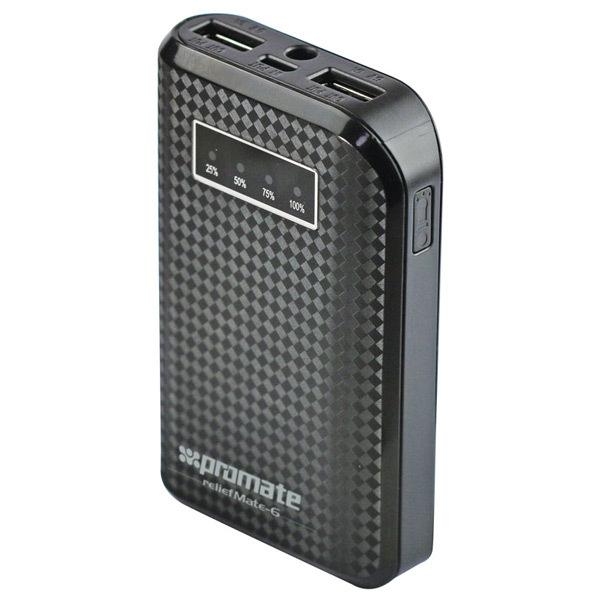 Baterie externa PROMATE reliefMate-6, 6000mAh, 1xUSB, Black