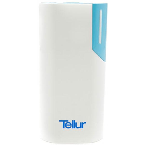 Baterie externa TELLUR TL38A, 5000mAh, 1xUSB, Alb/Albastru