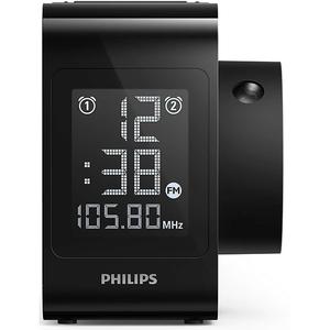 Radio cu ceas PHILIPS AJ4800/12, FM, Buzzer, negru