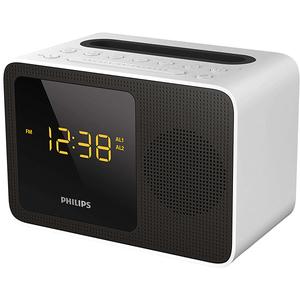 Radio cu ceas portabil PHILIPS AJT5300W/12, FM, Bluetooth, alb