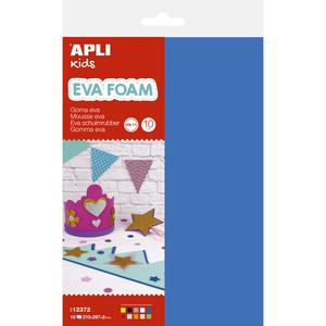 Spuma eva APLI, 30 x 20 cm, 10 coli, diverse culori