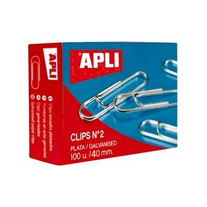 Agrafe de birou zincate APLI 40 mm, 100 buc/cutie