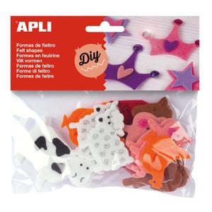 Set creativ APLI Animale, 18 bucati, diverse modele