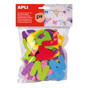 Set creativ APLI Litere, 104 bucati, diverse culori