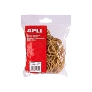 Elastice pentru bani APLI, 60 mm, 100 g/punga