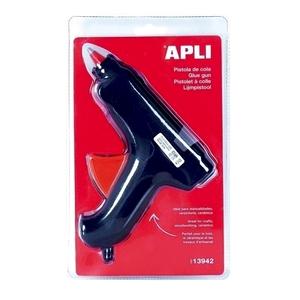 Pistol de lipit cu adeziv cald APLI, 40W, termoizolant + 2 bureti