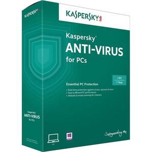 Kaspersky Antivirus, 1 an, 1 utilizator, Retail