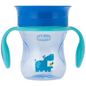 Cana CHICCO 360 Perfect Cup, 1 - 4 ani, 200 ml, albastru