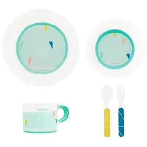 Set complet de hranire BABYMOOV A005508, 6 luni +, 5 piese, multicolor