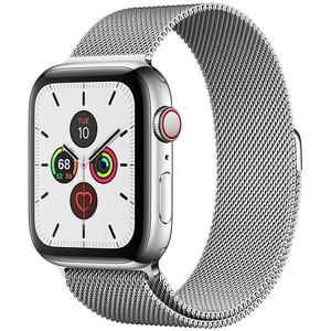 APPLE Watch Series 5 GPS + Cellular, 44mm Stainless Steel Case, Stainless Steel Milanese Loop