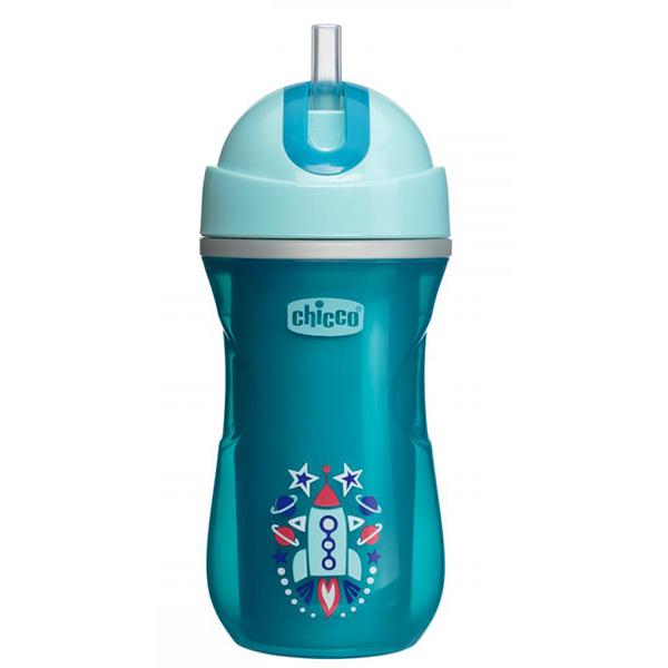 Cana sport cu pai CHICCO, 14 luni +, 266 ml, albastru