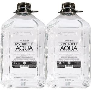 Apa de izvor plata IZVOARELE AQUA 5L, bax, 2 sticle