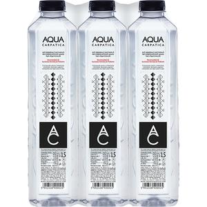Apa minerala plata AQUA CARPATICA 1.5L, bax, 6 sticle