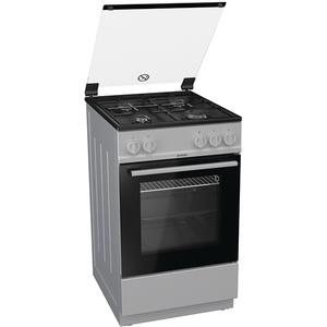 Aragaz GORENJE G5111SJ, 4 arzatoare, gaz, negru cu argintiu