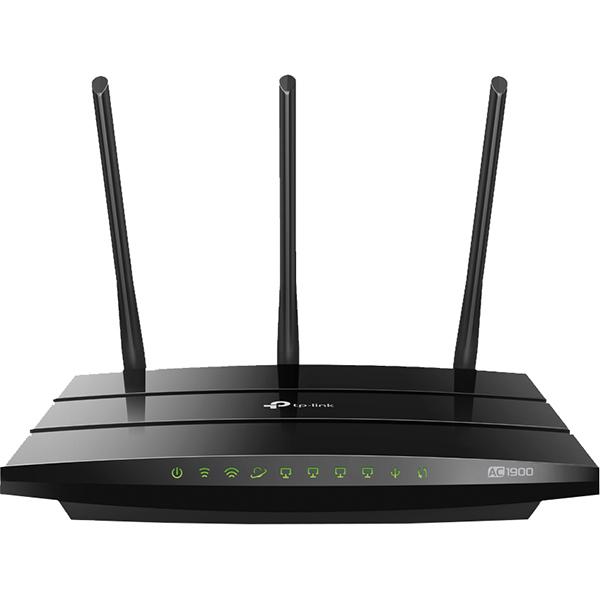 Router Wireless Gigabit TP-LINK Archer A9 AC1900, Dual-band 600 + 1300 Mbps, negru