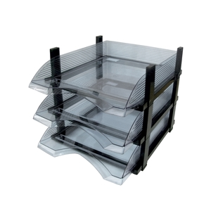 Set 3 tavite FLARO plastic, transparent