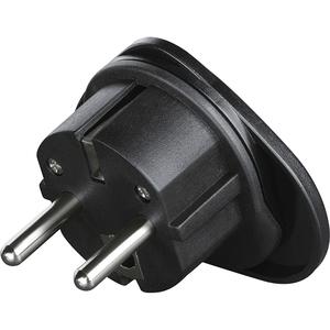 Adaptor priza UK/US-EU HAMA 121999, plastic, negru
