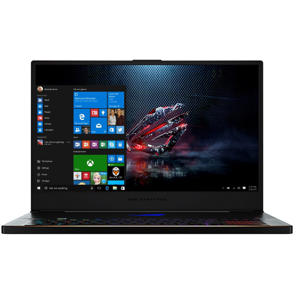 "Laptop Gaming ASUS ROG GX701GW-EV008T, Intel® Core™ i7-8750H pana la 3.9GHz, 17.3"" Full HD, 16GB, SSD 512GB, NVIDIA GeForce RTX 2070 8GB, Windows 10 Home, Negru"