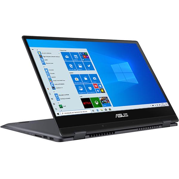 "Laptop 2 in 1 ASUS VivoBook Flip TP412UA-EC056T, 14"" Full HD Touch, Intel® Core™ i3-7020U processor 2.3GHz, 4GB, SSD 256GB, Intel HD Graphics 620, Windows 10 Home"