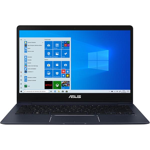 "Laptop ASUS ZenBook 13 UX331UN-C4088T, Intel® Core™ i7-8550U pana la 4.0Ghz, 13.3"" Full HD, 8GB, NVIDIA GeForce MX150 2GB, Windows 10 Home, Royal Blue"